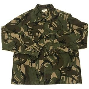 Wallace & Barnes J. Crew Camouflage Jacket Zip Up
